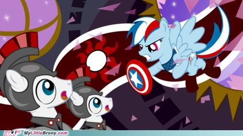 captain america equestria Movie rainbow dash