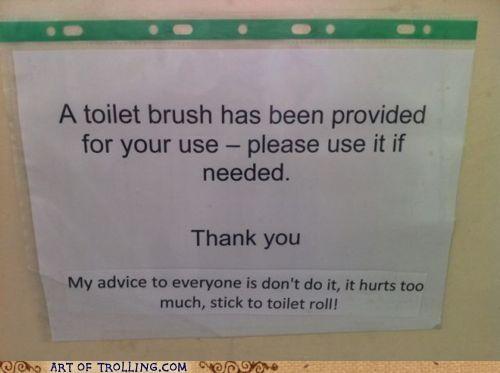 Awkward hurts IRL pain pootimes toilet toilet brush - 5012263936