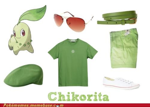 Chikorita dude green outfit style - 5012347136