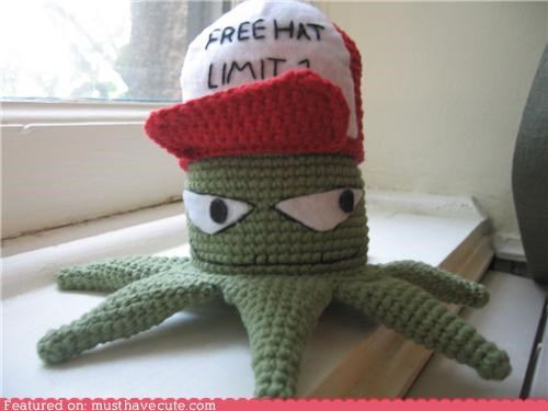 Amigurumi Crocheted early hat squid squidbillies - 5012382976