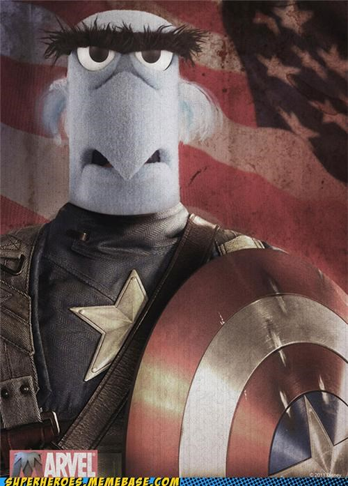 awesome,captain america,marvel,muppets,Random Heroics,Sam the Eagle,SDCC
