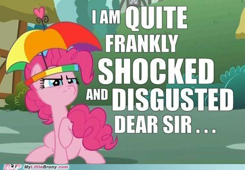 disgusted pinkie pie shock umbrella - 5012503552