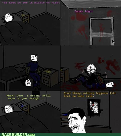 monster nice drawing night peetimes Rage Comics scary - 5012511744