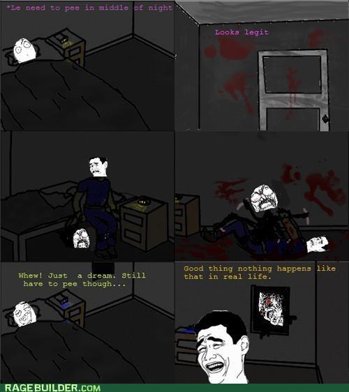 monster night peetimes Rage Comics scary - 5012511744