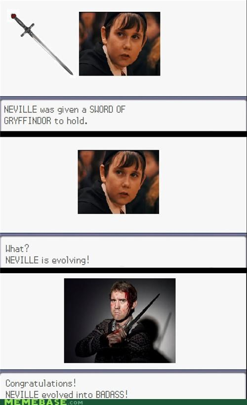 Badass,Evolve,gryffindor,Harry Potter,neville longbottom,sword