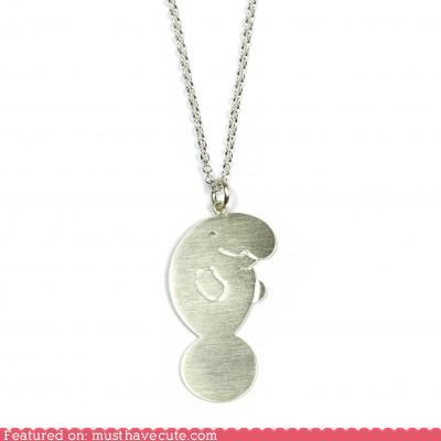 chain Jewelry manatee necklace pendant silver - 5012739584
