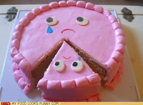 cake,face,lonely,Sad,slice