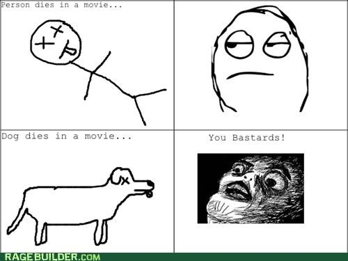 Death,dogs,movies,people,Rage Comics,sadness