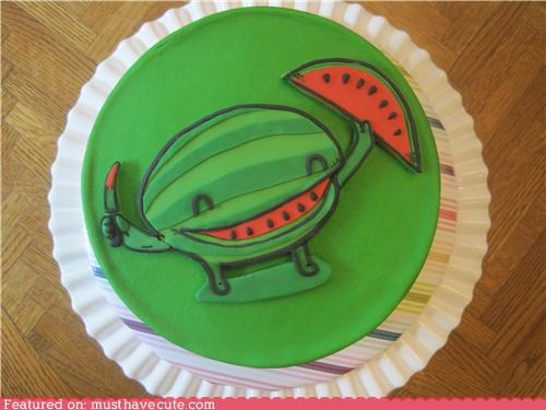 cake design epicute frosting shirt slice threadcakes threadless watermelon - 5013462528