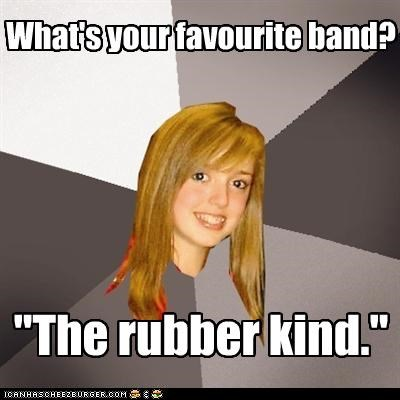band Music Musically Oblivious 8th Grader rubber