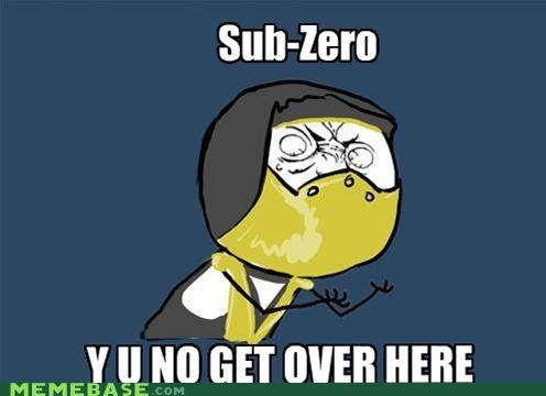 fatality Mortal Kombat scorpion Sub Zero video games Y U No Guy - 5013612288