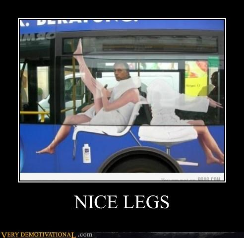 advertisement bus hilarious legs old guy - 5014128896