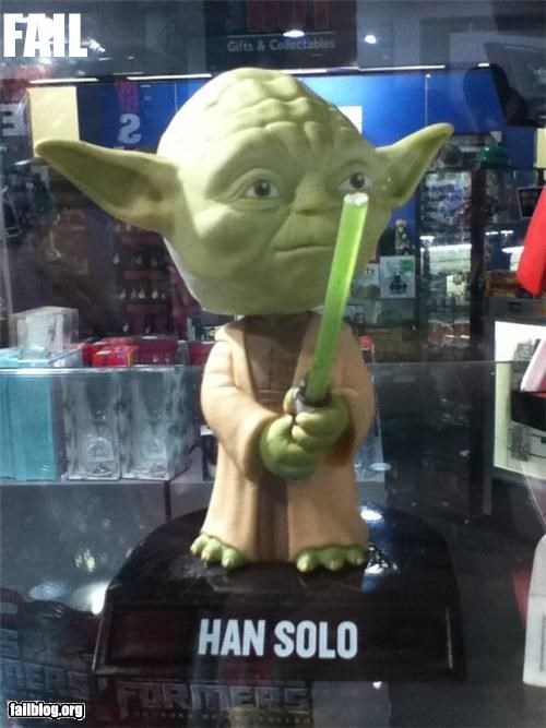 failboat,g rated,Han Solo,star wars,toy,yoda