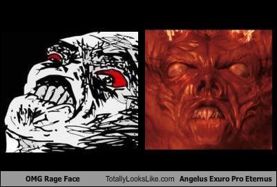 angelus exuro pro eternus,funny,meme,rage face,TLL