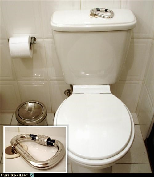 bathroom kludge dual use toilet