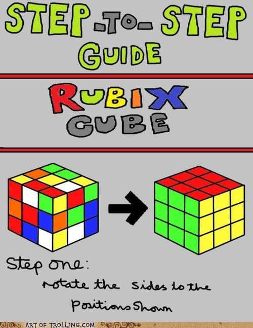 guide obvious rubiks cube step by step