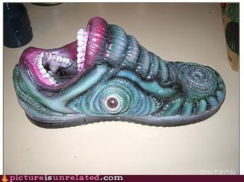creepy monster mouth shoe wtf - 5015481088