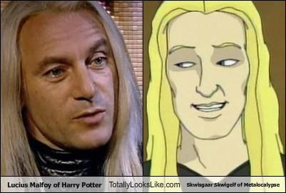 blond hair cartoons cartoon characters Harry Potter Jason Isaacs Lucius Malfoy Metalocalypse skwisgaar skwigelf