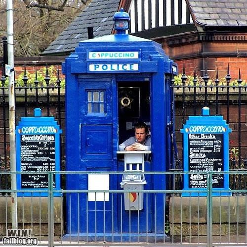 cafe coffee doctor who tardis