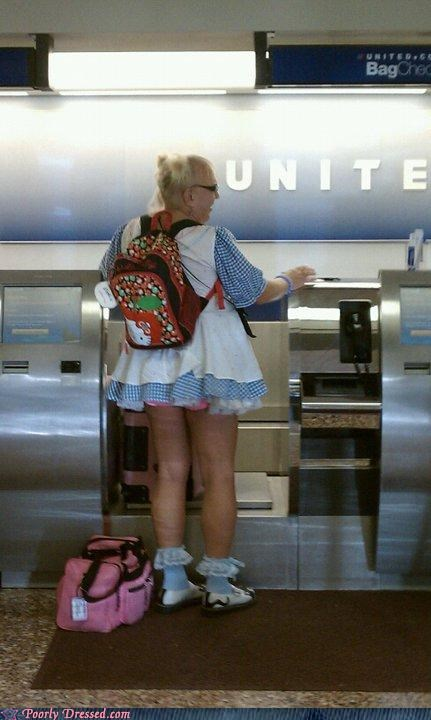airport,dress,hello kitty