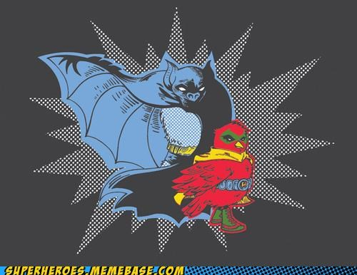 animals Awesome Art batman literal robin T.Shirt - 5015749888