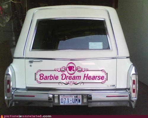 Barbie creepy hearse toys wtf