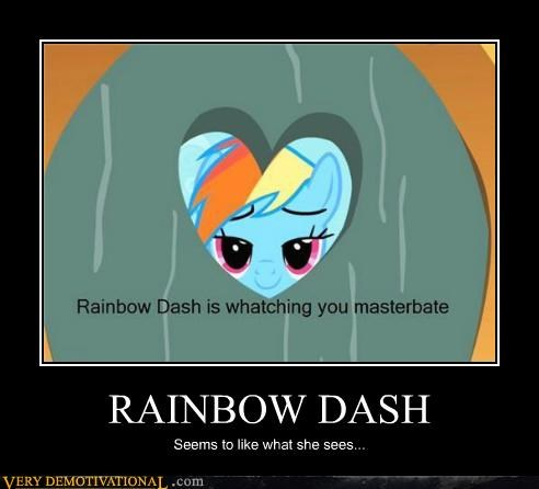 hilarious masturbate rainbow dash sees watches