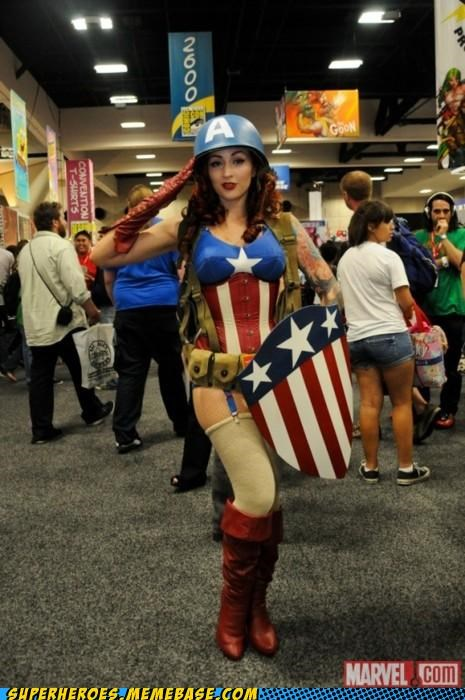 captain america,costume,rule 63,Sexy Ladies,stockings,Super Costume