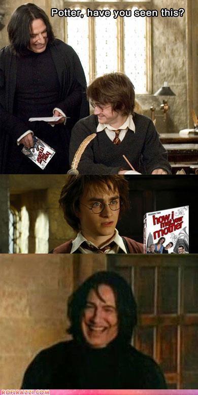 actor Alan Rickman celeb comic Daniel Radcliffe funny - 5015889664