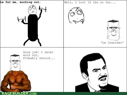 annoying fat people Rage Comics skinny work out