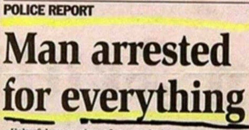 Criminally Dumb Criminal news FAIL gross crime headlines weird - 5016325