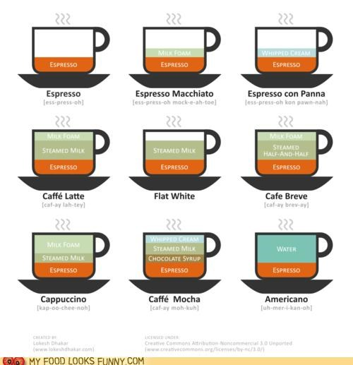 coffee drinks espresso infographic learn types - 5016393472