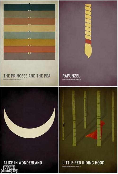 design fairy tales minimalist posters