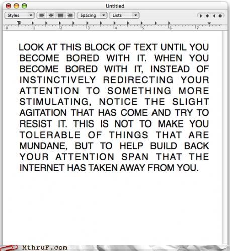 attention attention span boring internet notepad - 5016470528