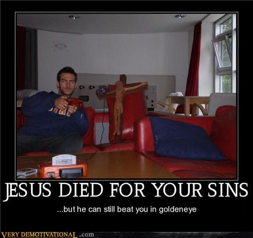 goldeneye hilarious jesus video games - 5016489216