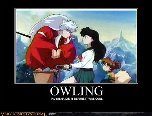 anime cartoons hilarious inuyasha owling - 5016534528