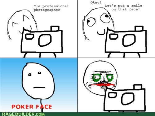 me gusta photographer poker face Rage Comics scary smile - 5016541440