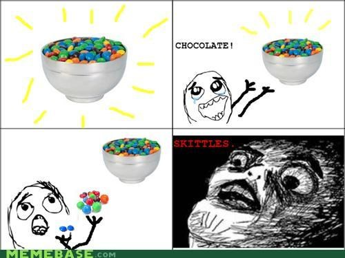 candy disappointing mms Rage Comics skittles - 5016634368