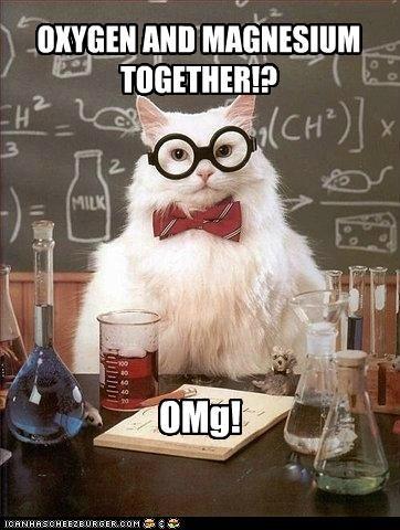 cat,Chemistry,magensium,Memes,puns,txts