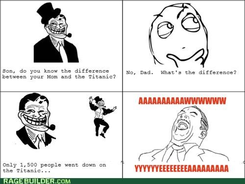 aww yeah,going down,Rage Comics,titanic,troll dad