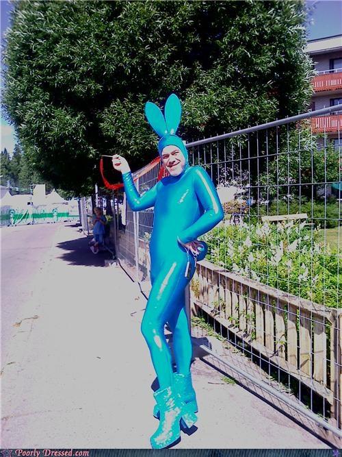 blue heels platform boots rabbit - 5016900608