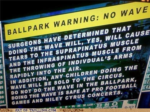 baseball football IRL the wave warning - 5017129472
