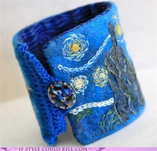bracelets cool accessories starry night Vincent van Gogh - 5017203456