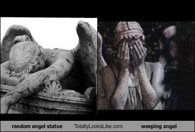 random angel statue Totally Looks Like weeping angel