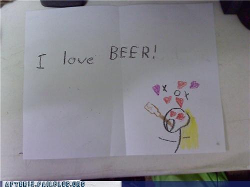 aww,beer,crayons,sister
