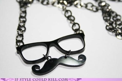 cool accessories glasses moustache necklaces - 5017456128