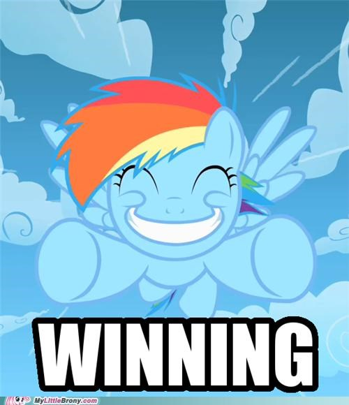 Charlie Sheen fly rainbow dash winning - 5017704704