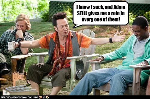 actor,celeb,chris rock,david spade,funny,rob schneider