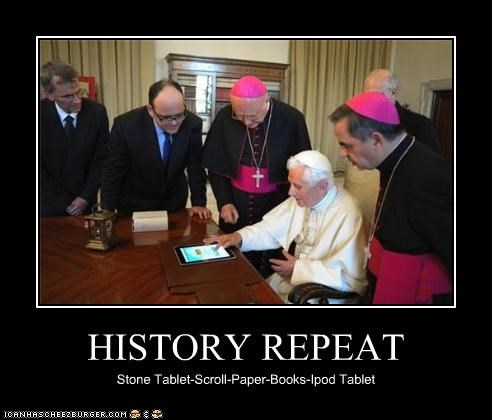 HISTORY REPEAT Stone Tablet-Scroll-Paper-Books-Ipod Tablet
