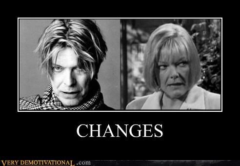 changes,david bowie,hilarious,jane curtain,look alike,Music